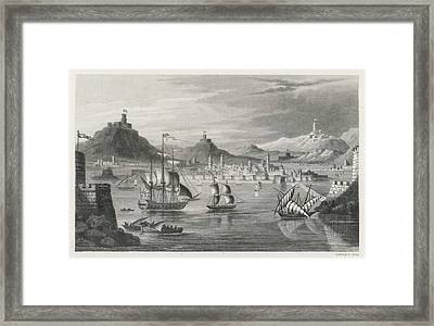 Algiers  Viewed From The Sea Framed Print by Mary Evans Picture Library