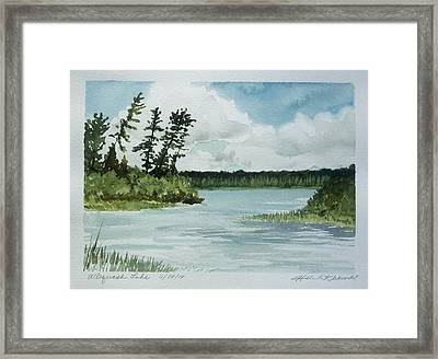 Allequash Lake Framed Print by Helen Klebesadel
