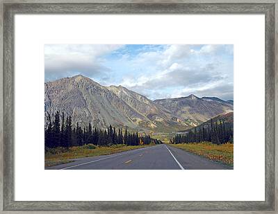 Framed Print featuring the photograph  Along The Parks Highway  by Dyle   Warren