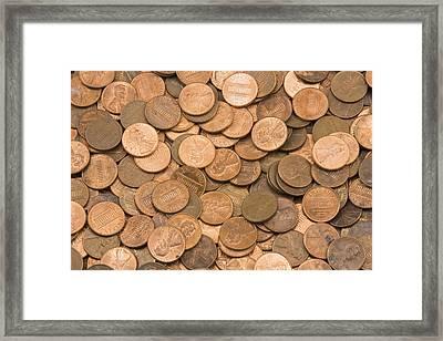 American Pennies Framed Print by Keith Webber Jr