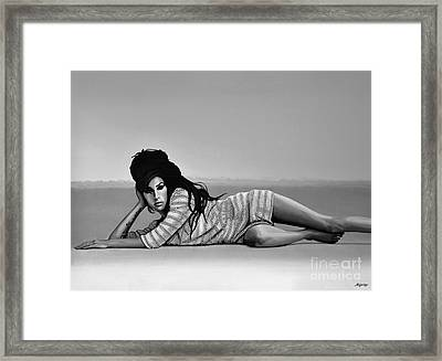 Amy Winehouse 2 Framed Print by Meijering Manupix