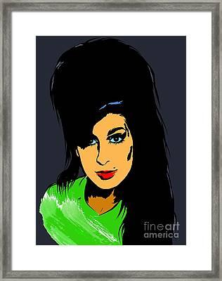 Amy  Winehouse Framed Print by Andrzej Szczerski