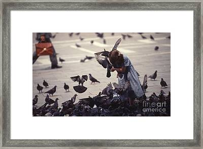 An Angel In The Square Framed Print