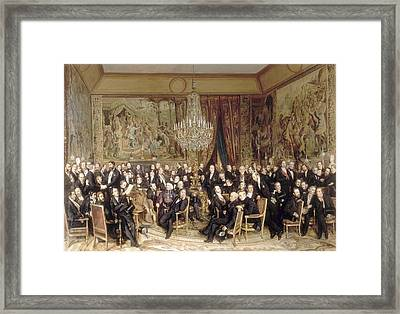 An Evening At The Louvre Count Nieuwerkerke Framed Print by Celestial Images