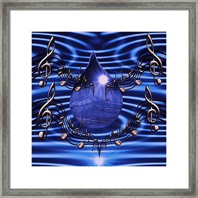 Angelic Sounds On The Waves Framed Print