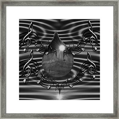 Angelic Sounds On The Waves Bw Framed Print