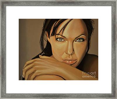Angelina Jolie 2 Framed Print by Paul Meijering