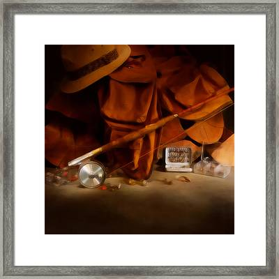 Anglers Gear Defused Glow Framed Print