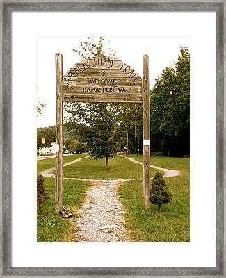 Appalachian Trail At Damascus Framed Print by Teresa Tilley