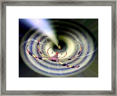 Arachnophobia Vortex Framed Print