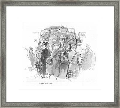 'arf And 'arf Framed Print by Perry Barlow