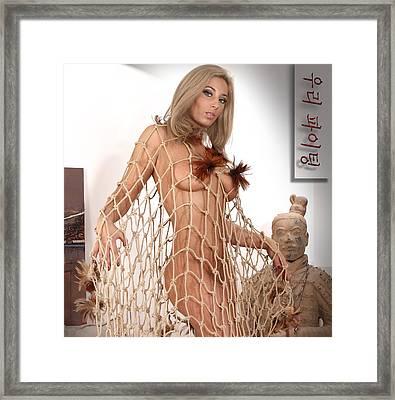 Art Nude A Framed Print by Emil Jianu