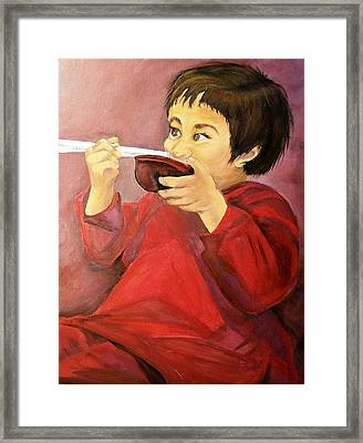 Framed Print featuring the painting  Asian  Doll by Sharon Duguay