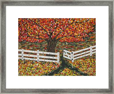 Autumn At The White Fence Farm Framed Print by Jeffrey Koss