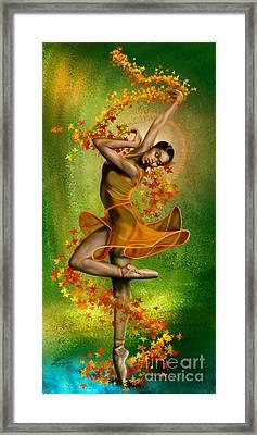 Autumn Zephyr -  Seasonal Winds Series 1 Of 4 Framed Print by Reggie Duffie