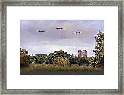 Avro Trio Over Tattershall Castle Framed Print