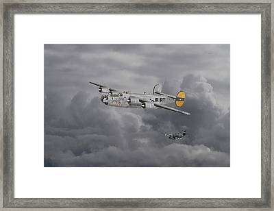 B24 Liberator  446th Bomb Group Framed Print by Pat Speirs