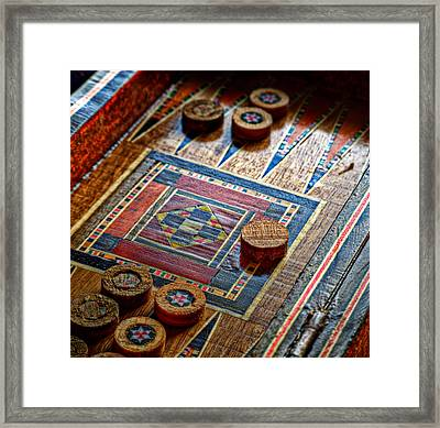 Backgammon Framed Print