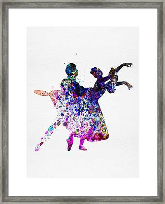 Ballet Dancers Watercolor 1 Framed Print by Naxart Studio
