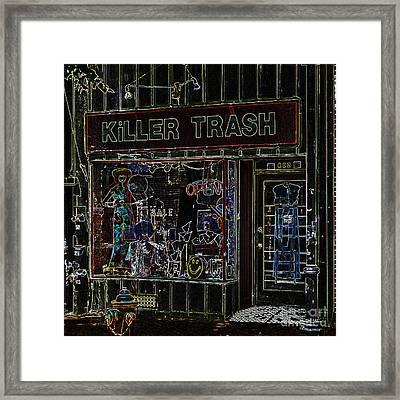 Baltimore Storefront Impression Framed Print