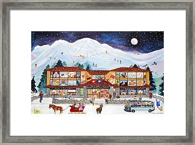 Banff International Hotel Alberta Canada Framed Print by Virginia Ann Hemingson