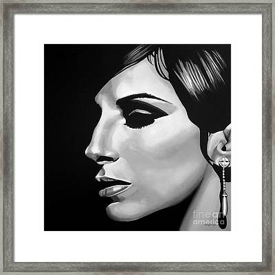 Barbra Streisand Framed Print by Meijering Manupix