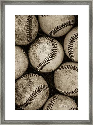 Baseballs Framed Print by Diane Diederich