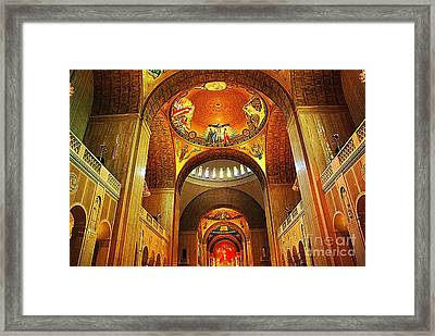 Framed Print featuring the photograph  Basilica Of The National Shrine Of The Immaculate Conception by John S