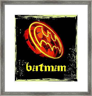Batman In Halifax Framed Print by John Malone