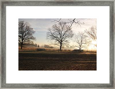 Battery Park Valley Forge National Park Framed Print