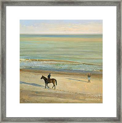Beach Dialogue Dunwich Framed Print by Timothy  Easton