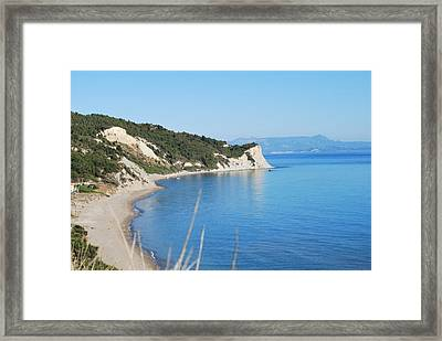 Framed Print featuring the photograph  Beach by George Katechis