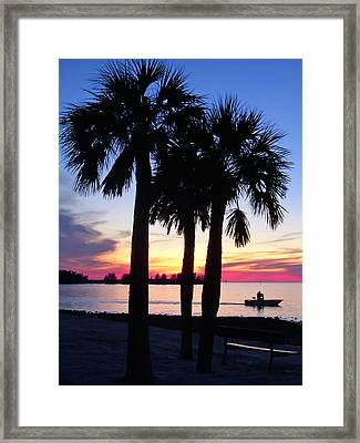 Beach Sunset Framed Print by Aimee L Maher Photography and Art Visit ALMGallerydotcom