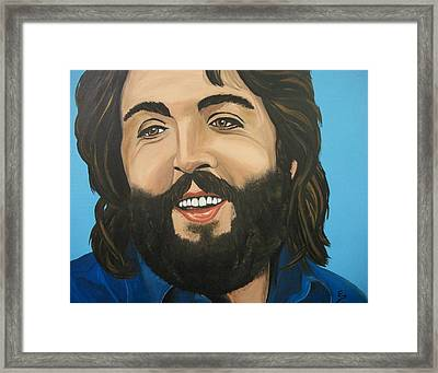 Bearded  Paul Mccartney Framed Print