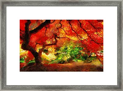 Framed Print featuring the painting  Beautiful Autumn by Georgi Dimitrov