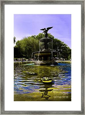 Bethesda Fountain - Central Park  Framed Print by Madeline Ellis