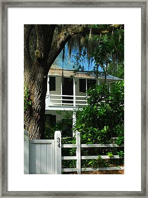 Beyond The Old Oak Framed Print