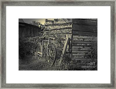 Framed Print featuring the pyrography  Bicycle by Evgeniy Lankin