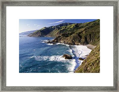 Big Sur At Big Creek Framed Print by George Oze