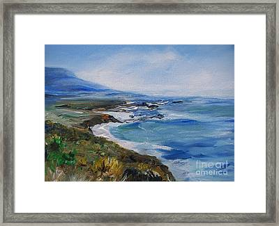 Framed Print featuring the painting  Big Sur Coastline by Eric  Schiabor