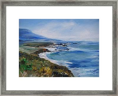 Big Sur Coastline Framed Print by Eric  Schiabor