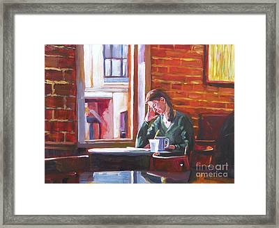 Bistro Student Framed Print by David Lloyd Glover