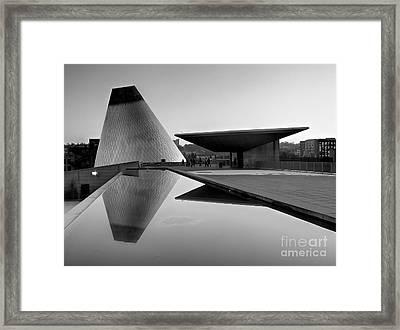 Black And White Mog Reflections  Framed Print