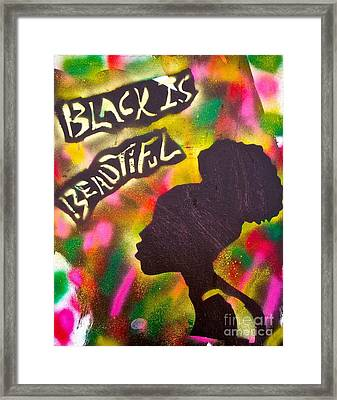 Black Is Beautiful Girl Framed Print by Tony B Conscious