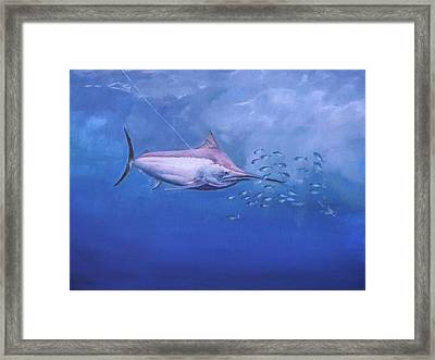 Framed Print featuring the painting  Black Marlin by Noe Peralez