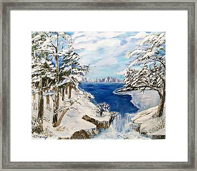 Blanket Of Ice Framed Print