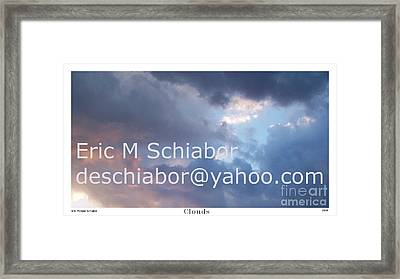 Blue And Purple Parting Clouds Print Framed Print by Eric  Schiabor