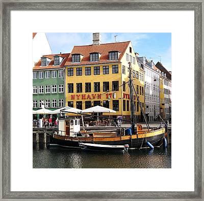 Boat In Nyhavn Framed Print
