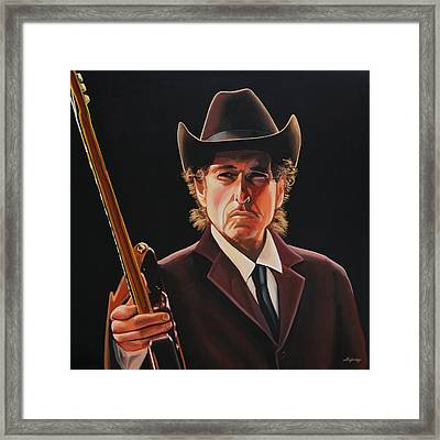Bob Dylan Painting 2 Framed Print by Paul Meijering