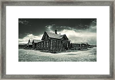 Bodie Ghost Town Panorama 02 Framed Print by Gregory Dyer